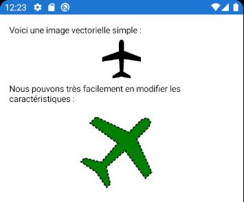 Une image vectorielle, affichée et manipulée dans Xamarin.Forms