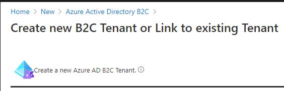 Create a New Azure AD B2C tenant