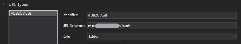 Redirect Uri dans Info.plist
