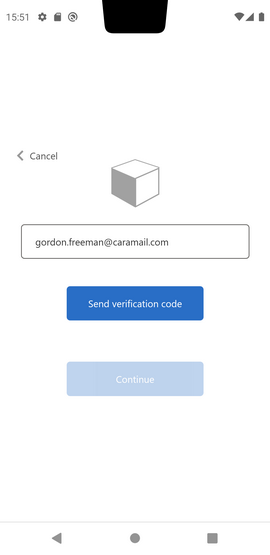 Page de réinitialisation de mot de passe